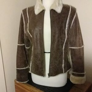 BERNARDO LEATHER JACKET(M)